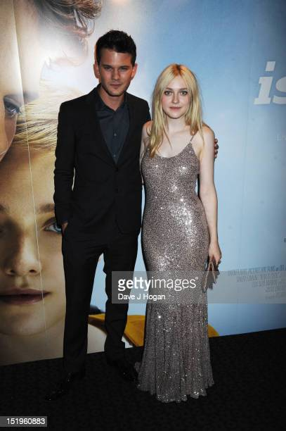 Dakota Fanning and Jeremy Irvine attend the Now Is Good UK Film Premiere at The Curzon Mayfair on September 13 2012 in London England