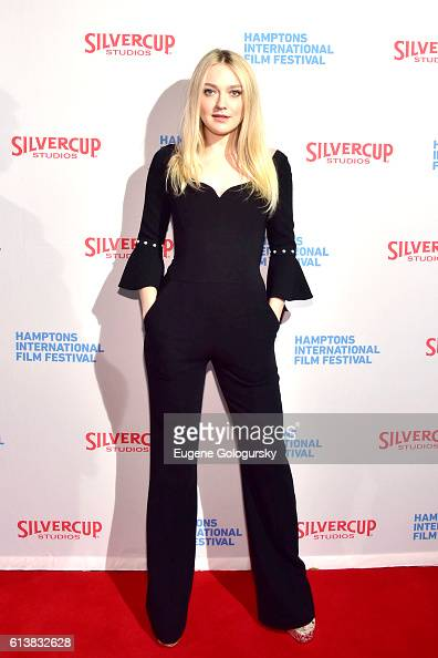 Dakota Fanning attends the American Pastoral screening during the Hamptons International Film Festival 2016 at Guild Hall on October 10 2016 in East...