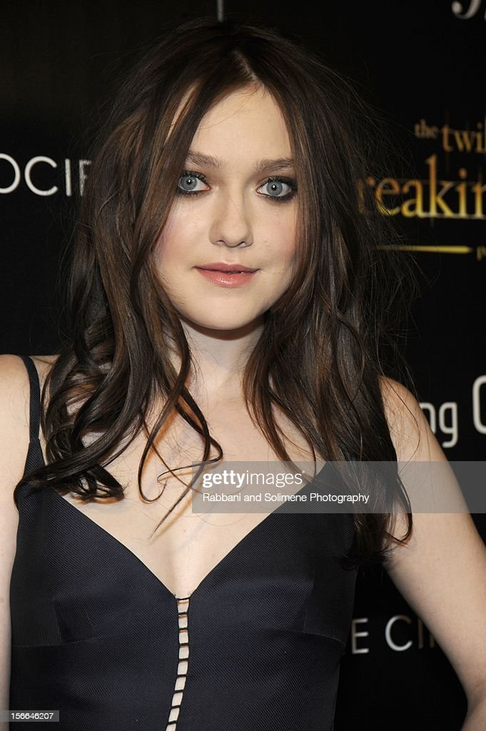 Dakota Fanning attends the Cinema Society with The Hollywood Reporter and Samsung Galaxy screening of 'The Twilight Saga: Breaking Dawn Part 2' at the Landmark Sunshine Cinema on November 15, 2012 in New York City.