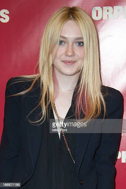 Dakota Fanning attends the 'Orphans' Broadway opening night at the Gerald Schoenfeld Theatre on April 18 2013 in New York City