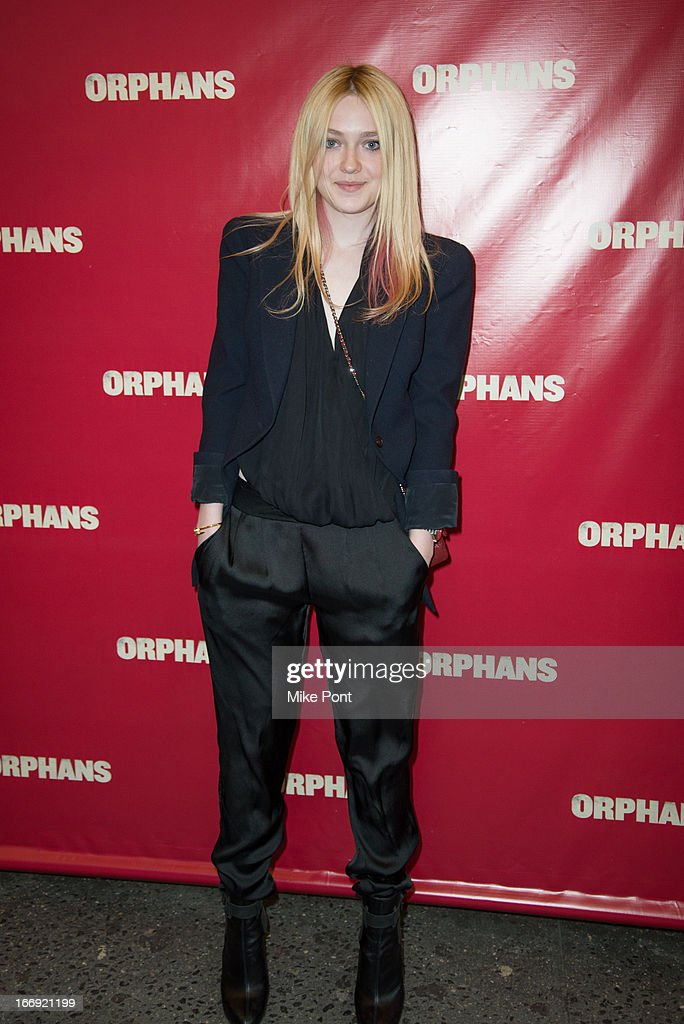 Dakota Fanning attends the 'Orphans' Broadway opening night at the Gerald Schoenfeld Theatre on April 18, 2013 in New York City.