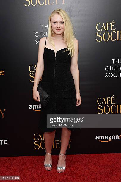 Dakota Fanning attends the premiere of 'Cafe Society' hosted by Amazon Lionsgate with The Cinema Society at Paris Theatre on July 13 2016 in New York...