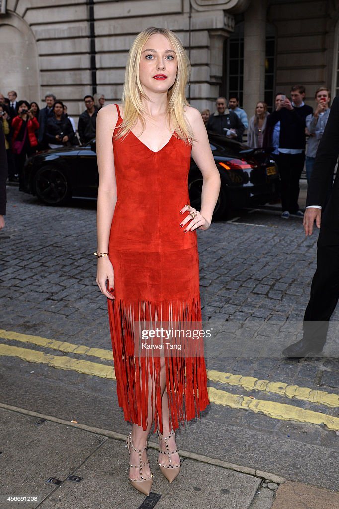 Dakota Fanning attends the World Premiere of 'Effie Gray' at The Curzon Mayfair on October 5 2014 in London England