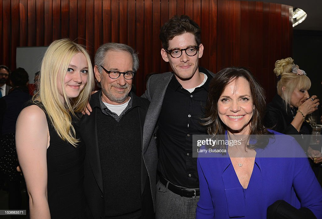 <a gi-track='captionPersonalityLinkClicked' href=/galleries/search?phrase=Dakota+Fanning&family=editorial&specificpeople=203236 ng-click='$event.stopPropagation()'>Dakota Fanning</a>, Director <a gi-track='captionPersonalityLinkClicked' href=/galleries/search?phrase=Steven+Spielberg&family=editorial&specificpeople=202022 ng-click='$event.stopPropagation()'>Steven Spielberg</a>, Sawyer Avery Spielberg and <a gi-track='captionPersonalityLinkClicked' href=/galleries/search?phrase=Sally+Field&family=editorial&specificpeople=206350 ng-click='$event.stopPropagation()'>Sally Field</a> attend NYFF 50th Anniversary surprise screening of Lincoln at Alice Tully Hall on October 8, 2012 in New York City.