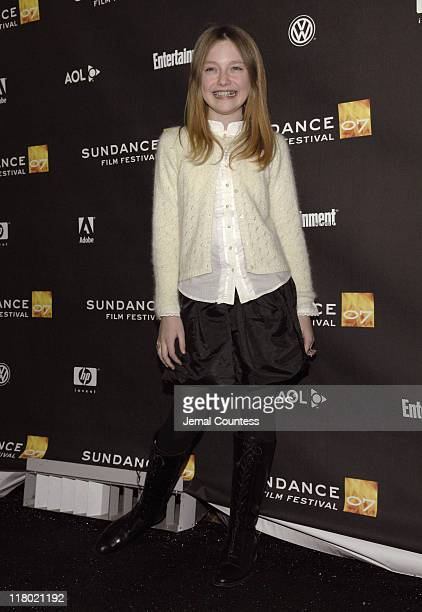 Dakota Fanning during 2007 Sundance Film Festival 'Hounddog' Premiere at Racquet Club Theatre in Park City Utah United States
