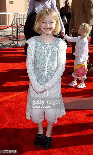 Dakota Fanning during 20th Anniversary Premiere of Steven Spielberg's 'ET The ExtraTerrestrial' Red Carpet at Shrine Auditorium in Los Angeles...