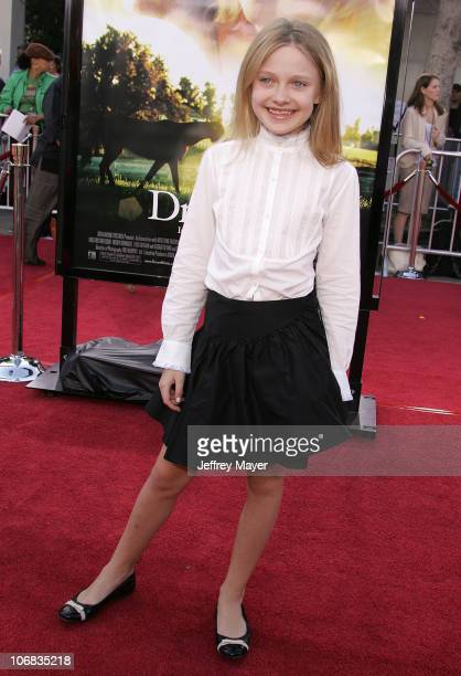 Dakota Fanning during DreamWorks Pictures' 'Dreamer Inspired by a True Story' Los Angeles Premiere Arrivals at Mann Village Theatre in Westwood...