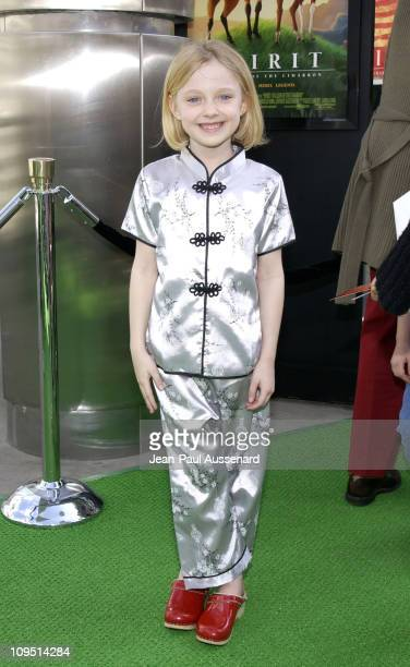 Dakota Fanning during 'Spirit Stallion of The Cimarron' Premiere at Arclight Cinerama Dome in Hollywood California United States