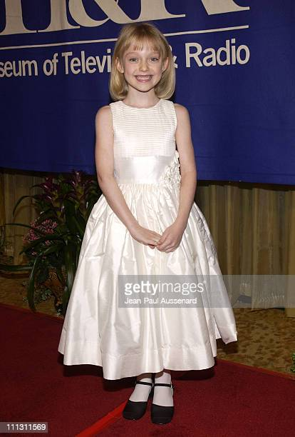 Dakota Fanning during The Museum of Television Radio's Annual Los Angeles Gala at Regent Beverly Wilshire Hotel in Beverly Hills California United...