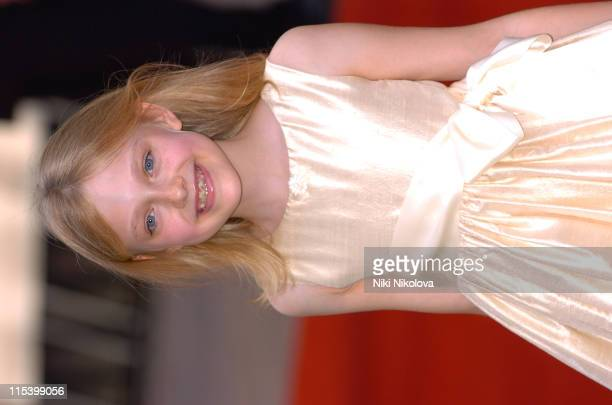 Dakota Fanning during 'War of the Worlds' London Premiere Arrivals at Odeon Leicester Square in London Great Britain