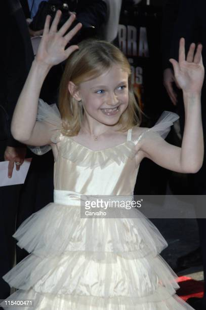 Dakota Fanning during 'War of the Worlds' New York City Premiere Arrivals at Ziegfield Theater in New York City New York United States