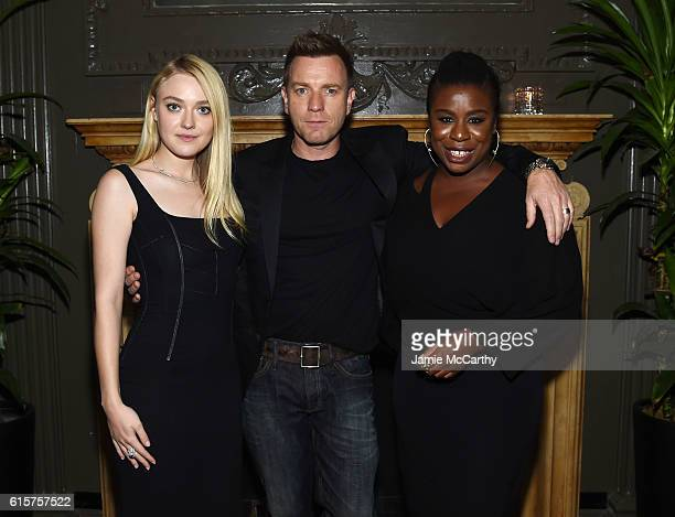 Dakota Fanning Ewan McGregor and Uzo Aduba attend the after party for 'American Pastoral' hosted by Lionsgate Lakeshore Entertainment and Bloomberg...