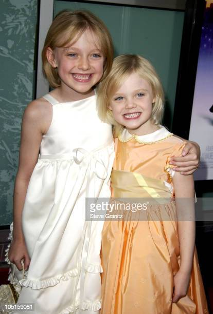 Dakota Fanning Sister Elle during 'Uptown Girls' Premiere at Archlight Theatre in Hollywood California United States