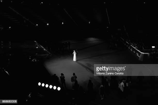 Dakota Fanning walks a red carpet for 'Please Stand By' during the 12th Rome Film Fest at Auditorium Parco Della Musica on October 31 2017 in Rome...