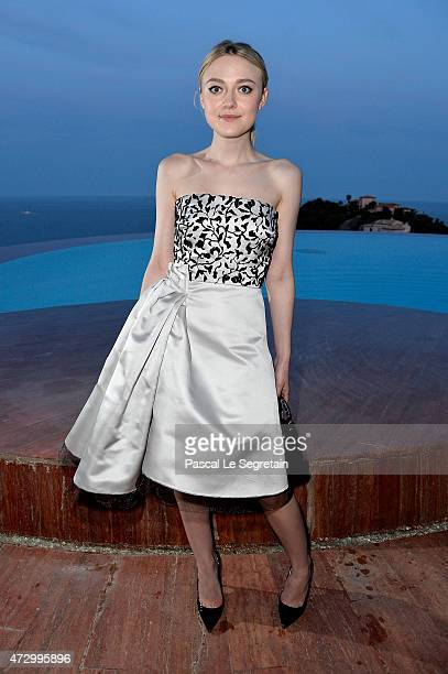 Dakota Fanniong attends the Dior Croisiere 2016 at Palais Bulle on May 11 2015 in Theoule sur Mer France