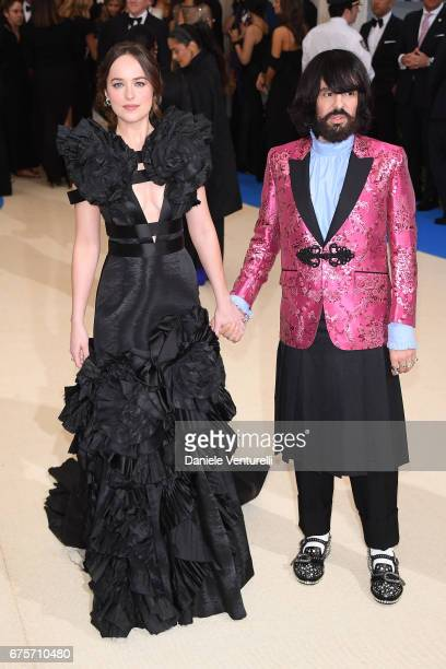Dakota Johnson and Alessandro Michele attend 'Rei Kawakubo/Comme des Garcons Art Of The InBetween' Costume Institute Gala Arrivals at Metropolitan...