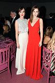 Dakota Johnson and Emily Blunt attend the 2015 Guggenheim International Gala Dinner made possible by Dior at Solomon R Guggenheim Museum on November...