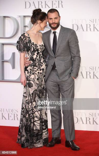 Dakota Johnson and Jamie Dornan attends the 'Fifty Shades Darker' UK Premiere on February 9 2017 in London United Kingdom