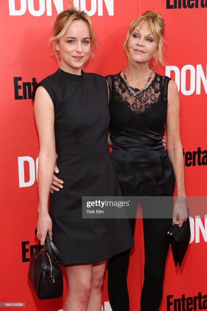 Dakota Johnson and Melanie Griffith attend the 'Don Jon' New York premiere at SVA Theater on September 12 2013 in New York City
