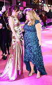 Dakota Johnson and Rebel Wilson attend the UK Premiere of 'How To Be Single' at Vue West End on February 9 2016 in London England