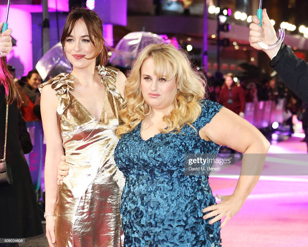 <a gi-track='captionPersonalityLinkClicked' href=/galleries/search?phrase=Dakota+Johnson&family=editorial&specificpeople=2091563 ng-click='$event.stopPropagation()'>Dakota Johnson</a> (L) and <a gi-track='captionPersonalityLinkClicked' href=/galleries/search?phrase=Rebel+Wilson&family=editorial&specificpeople=5563104 ng-click='$event.stopPropagation()'>Rebel Wilson</a> attend the UK Premiere of 'How To Be Single' at Vue West End on February 9, 2016 in London, England.