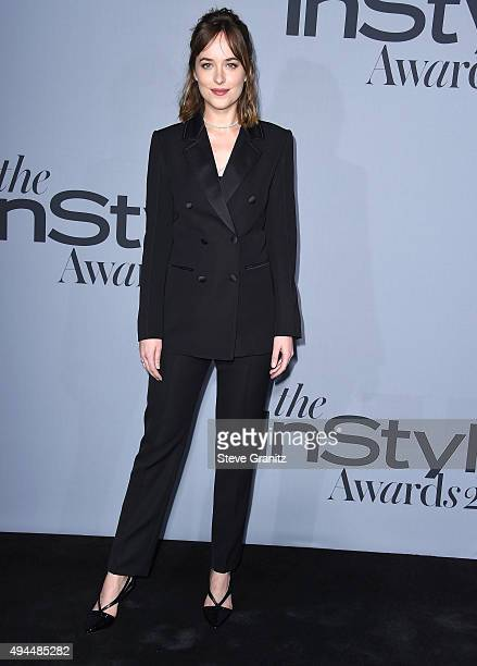 Dakota Johnson arrives at the InStyle Awards at Getty Center on October 26 2015 in Los Angeles California