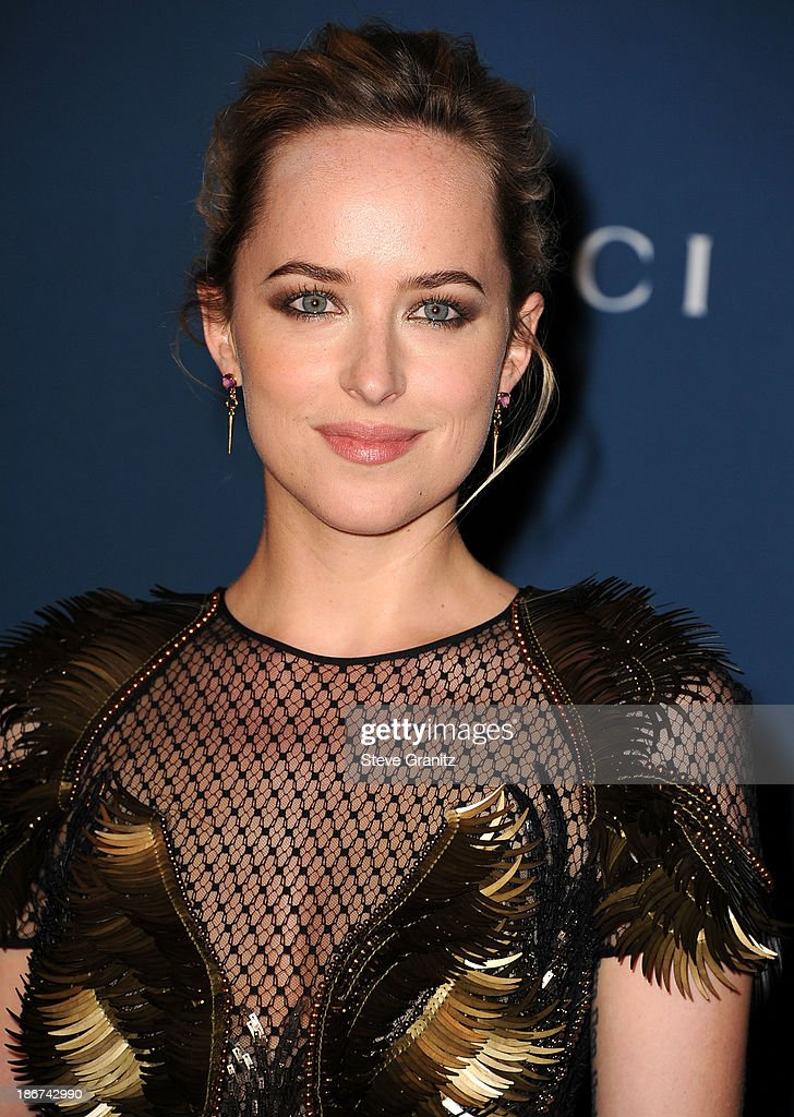 <a gi-track='captionPersonalityLinkClicked' href=/galleries/search?phrase=Dakota+Johnson&family=editorial&specificpeople=2091563 ng-click='$event.stopPropagation()'>Dakota Johnson</a> arrives at the LACMA 2013 Art + Film Gala at LACMA on November 2, 2013 in Los Angeles, California.