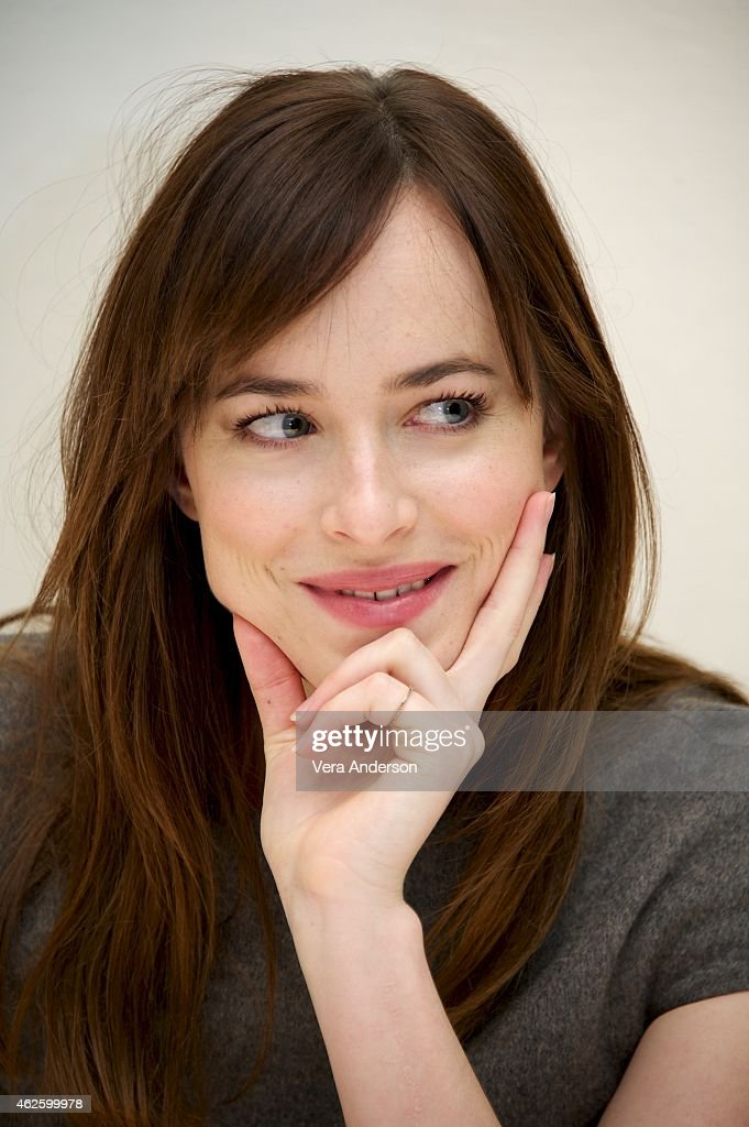 Dakota Johnson at the 'Fifty Shades Of Grey' Press Conference at the Four Seasons Hotel on January 31, 2015 in Beverly Hills, California.