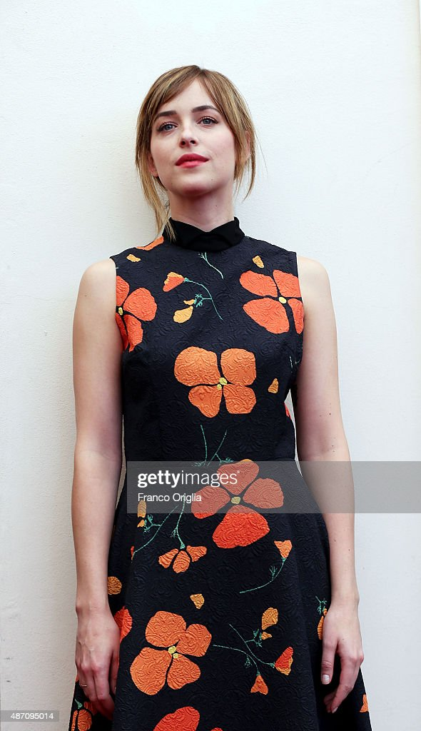 Dakota Johnson attends a photocall for 'A Bigger Splash' during the 72nd Venice Film Festival at Palazzo del Casino on September 6, 2015 in Venice, Italy.