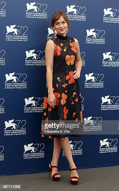Dakota Johnson attends a photocall for 'A Bigger Splash' during the 72nd Venice Film Festival at on September 6 2015 in Venice Italy