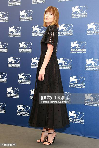 Dakota Johnson attends a photocall for 'Black Mass' during the 72nd Venice Film Festival at Palazzo del Casino on September 4 2015 in Venice Italy