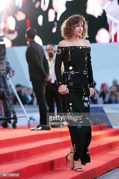 Dakota Johnson attends a premiere for 'A Bigger Splash' during the 72nd Venice Film Festival at Sala Grande on September 6 2015 in Venice Italy