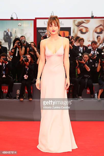 Dakota Johnson attends a premiere for 'Black Mass' during the 72nd Venice Film Festival at on September 4 2015 in Venice Italy