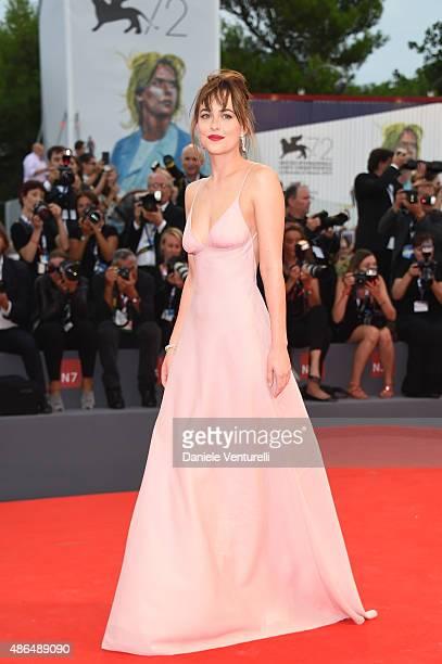 Dakota Johnson attends a premiere for 'Black Mass' during the 72nd Venice Film Festival on September 4 2015 in Venice Italy