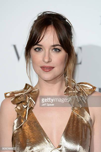 Dakota Johnson attends at Vogue 100 A Century of Style at the National Portrait Gallery on February 9 2016 in London England