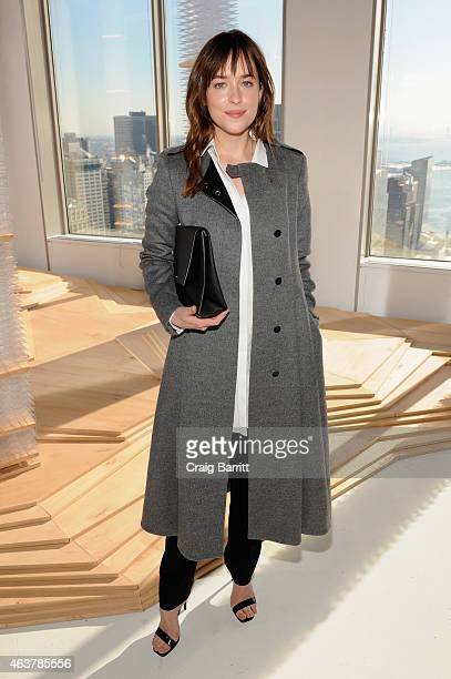 Dakota Johnson attends the Boss Womens fashion show during MercedesBenz Fashion Week Fall 2015 on February 18 2015 in New York City