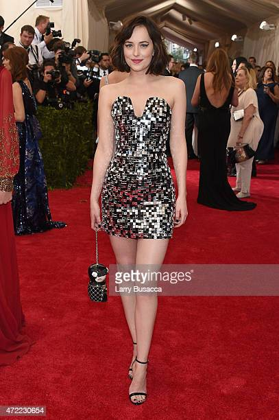 Dakota Johnson attends the 'China Through The Looking Glass' Costume Institute Benefit Gala at the Metropolitan Museum of Art on May 4 2015 in New...