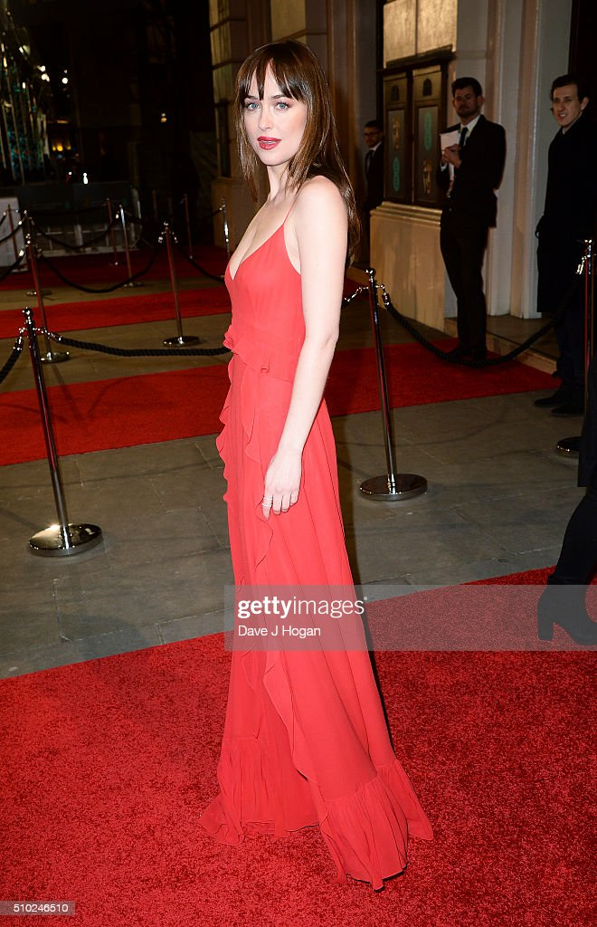 <a gi-track='captionPersonalityLinkClicked' href=/galleries/search?phrase=Dakota+Johnson&family=editorial&specificpeople=2091563 ng-click='$event.stopPropagation()'>Dakota Johnson</a> attends the EE British Academy Film Awards at The Royal Opera House on February 14, 2016 in London, England.