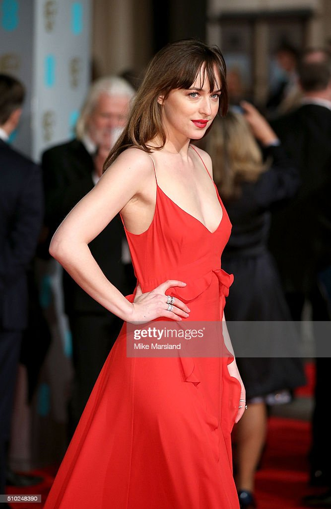 Dakota Johnson attends the EE British Academy Film Awards at The Royal Opera House on February 14, 2016 in London, England.