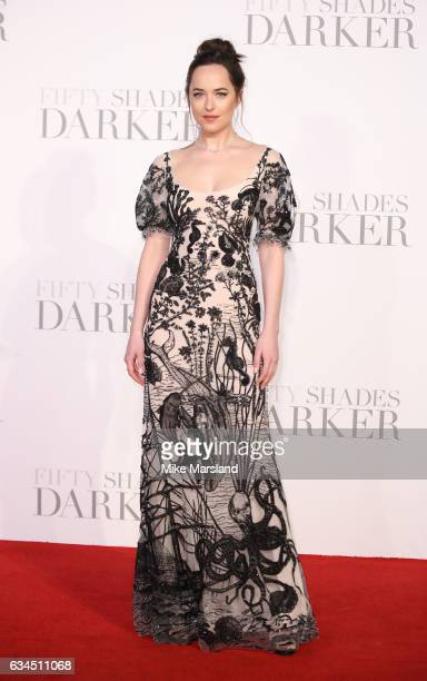 Dakota Johnson attends the 'Fifty Shades Darker' UK Premiere on February 9 2017 in London United Kingdom
