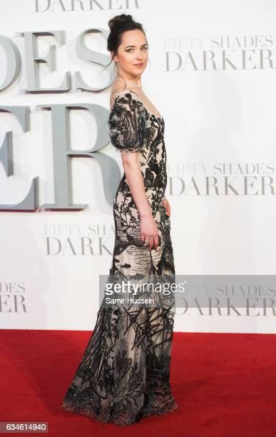 Dakota Johnson attends the 'Fifty Shades Darker' UK Premiere on February 9 2017 in London United Kingdom