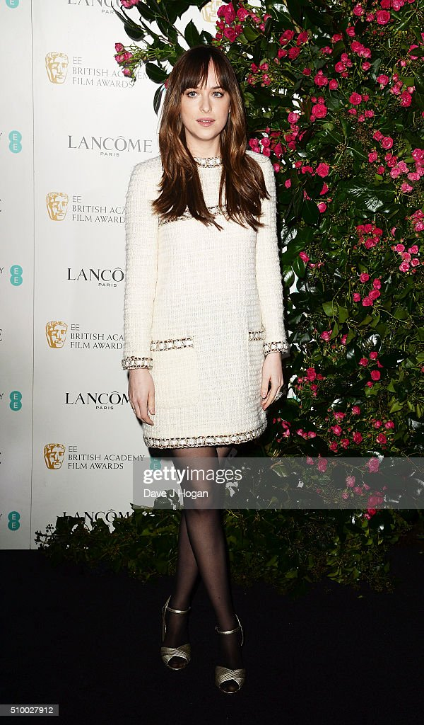 <a gi-track='captionPersonalityLinkClicked' href=/galleries/search?phrase=Dakota+Johnson&family=editorial&specificpeople=2091563 ng-click='$event.stopPropagation()'>Dakota Johnson</a> attends the Lancome BAFTA nominees party at Kensington Palace on February 13, 2016 in London, England.