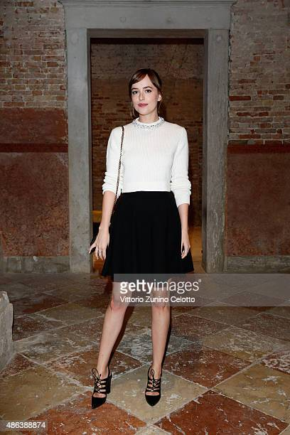 Dakota Johnson attends the Miu Miu Women's Tales Dinner during the 72nd Venice Film Festival at Ca' Corner della Regina on September 3 2015 in Venice...