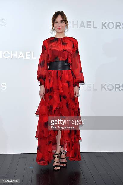 Dakota Johnson attends the opening event for the Michael Kors Ginza Flagship Store on November 20 2015 in Tokyo Japan