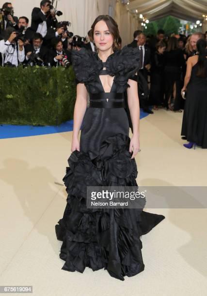 Dakota Johnson attends the 'Rei Kawakubo/Comme des Garcons Art Of The InBetween' Costume Institute Gala at Metropolitan Museum of Art on May 1 2017...