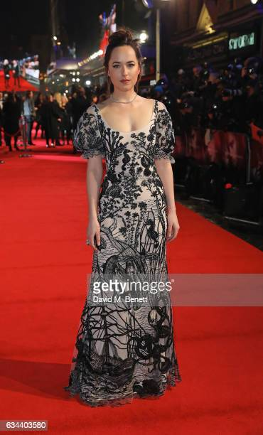 Dakota Johnson attends the UK Premiere of 'Fifty Shades Darker' at Odeon Leicester Square on February 9 2017 in London United Kingdom