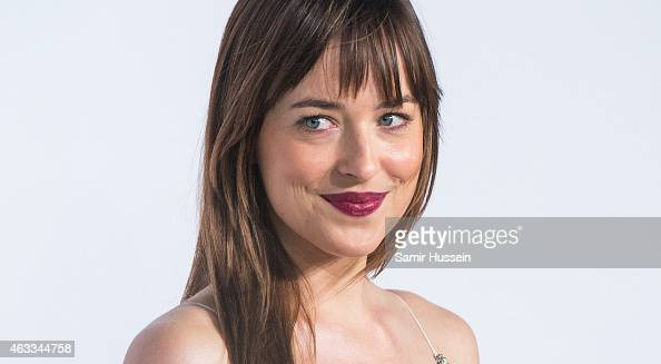 Dakota Johnson attends the UK Premiere of 'Fifty Shades Of Grey' at Odeon Leicester Square on February 12 2015 in London England