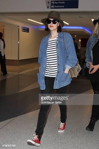 Dakota Johnson is seen at LAX on June 05 2015 in Los Angeles California