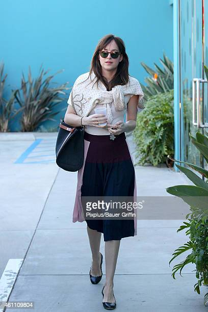 Dakota Johnson is seen on January 06 2015 in Los Angeles California
