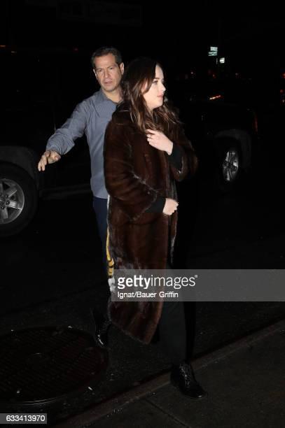 Dakota Johnson is seen on January 31 2017 in New York City